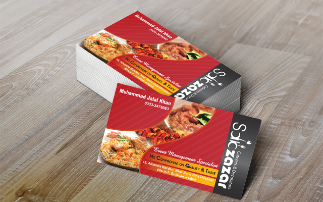 Catering Service Vcards